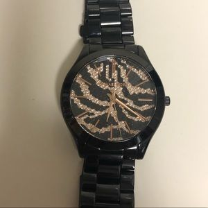 Small MK watch Black and gold